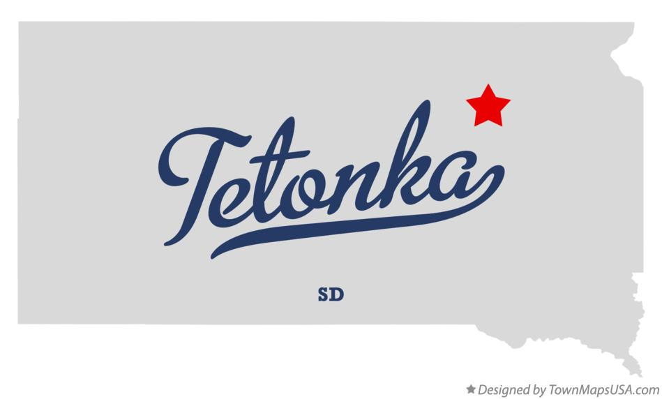 Map of Tetonka South Dakota SD