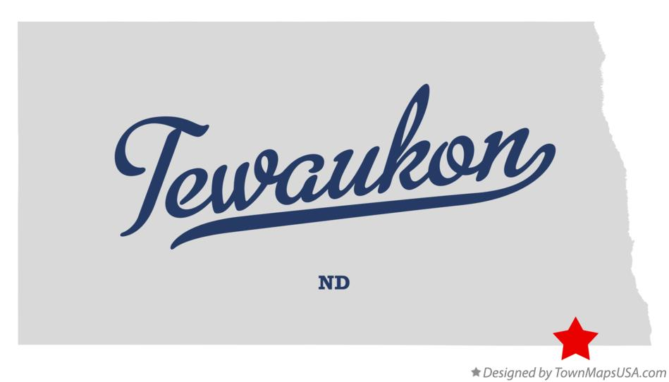 Map of Tewaukon North Dakota ND