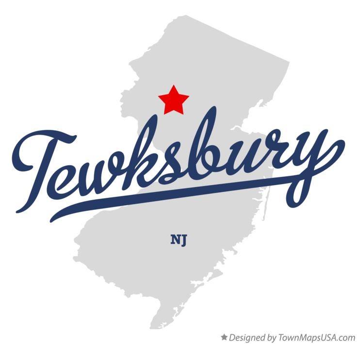 Map of Tewksbury New Jersey NJ