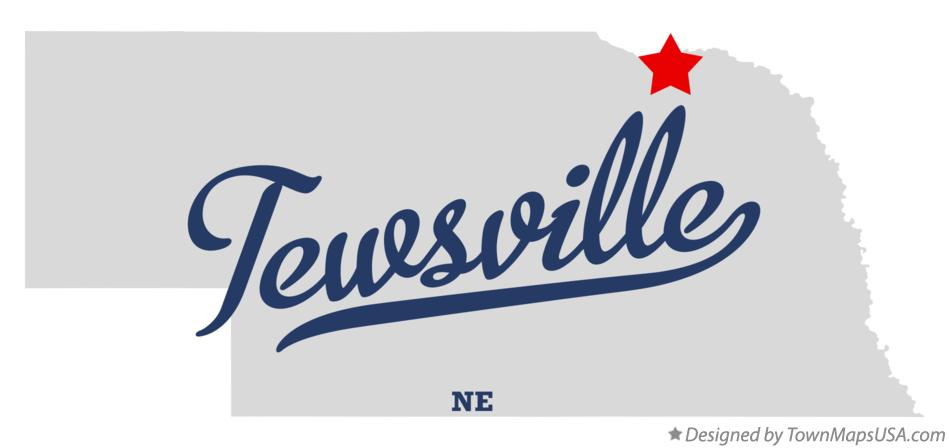 Map of Tewsville Nebraska NE