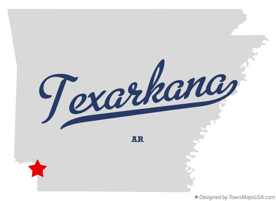 Map of Texarkana, AR, Arkansas