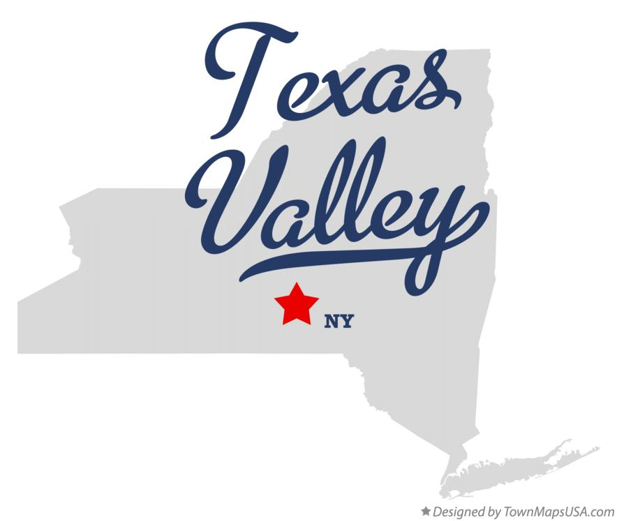 Map of Texas Valley New York NY