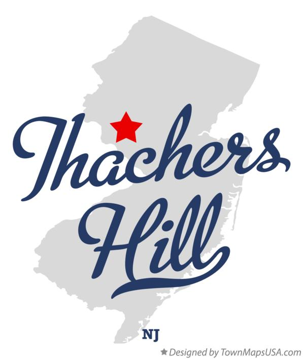 Map of Thachers Hill New Jersey NJ