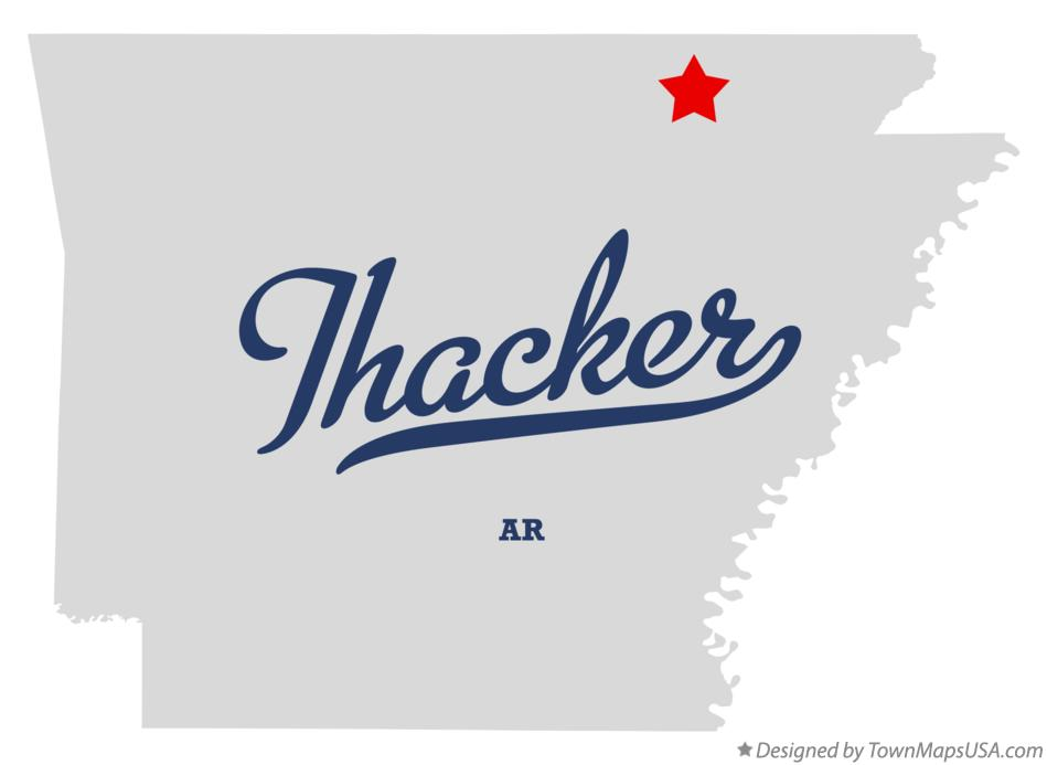 Map of Thacker Arkansas AR