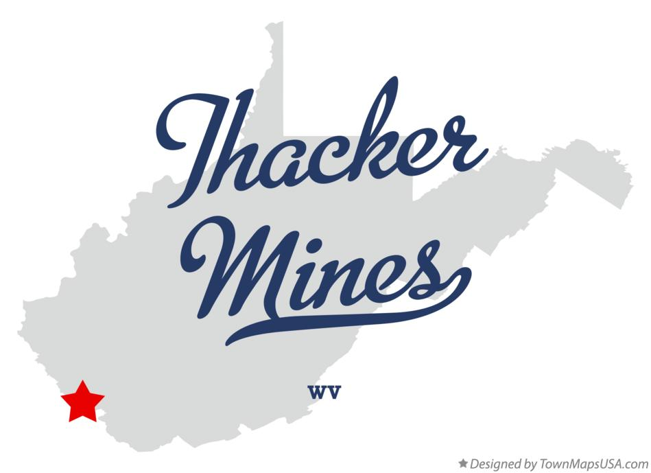 Map of Thacker Mines West Virginia WV