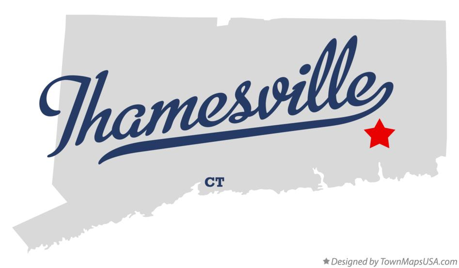 Map of Thamesville Connecticut CT