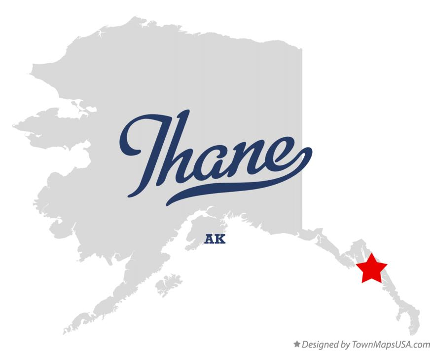Map of Thane Alaska AK