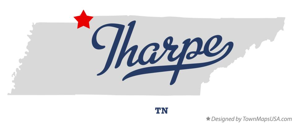 Map of Tharpe Tennessee TN