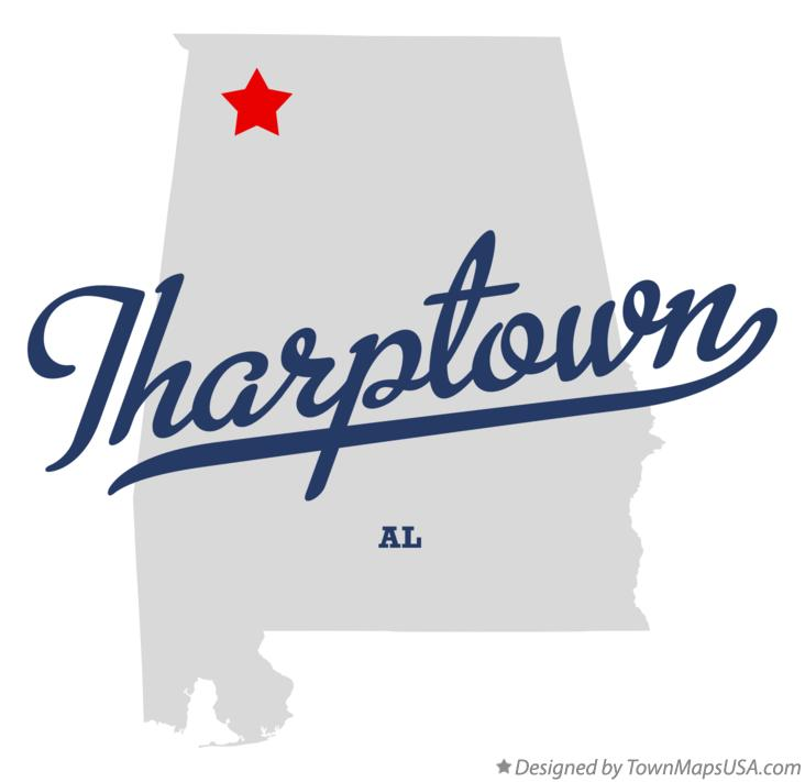 Map of Tharptown Alabama AL