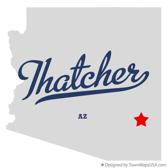 Map of Thatcher Arizona AZ