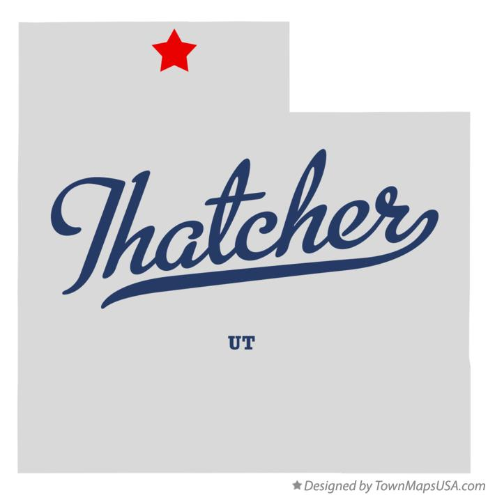 Map of Thatcher Utah UT