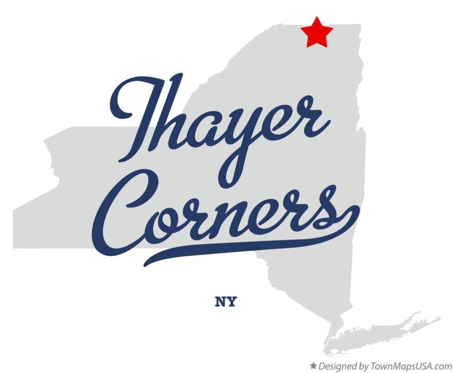 Map of Thayer Corners New York NY