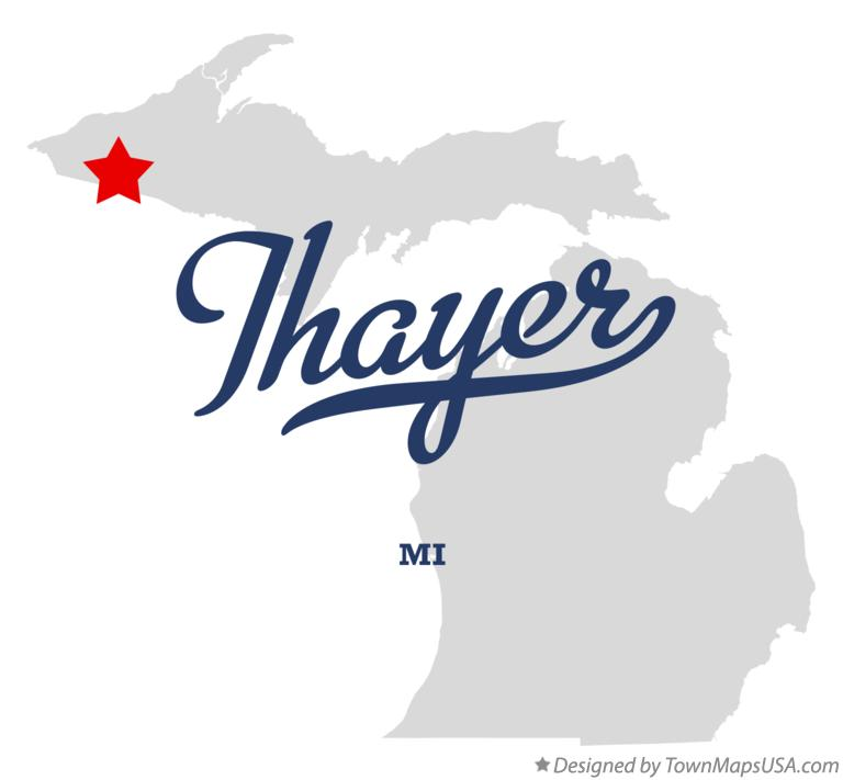 Map of Thayer Michigan MI