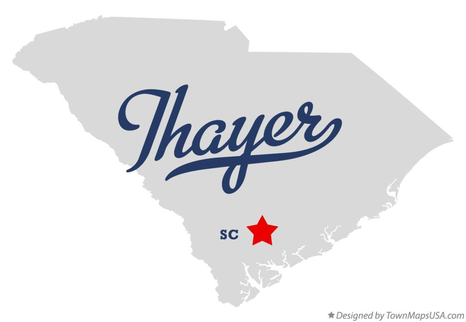 Map of Thayer South Carolina SC