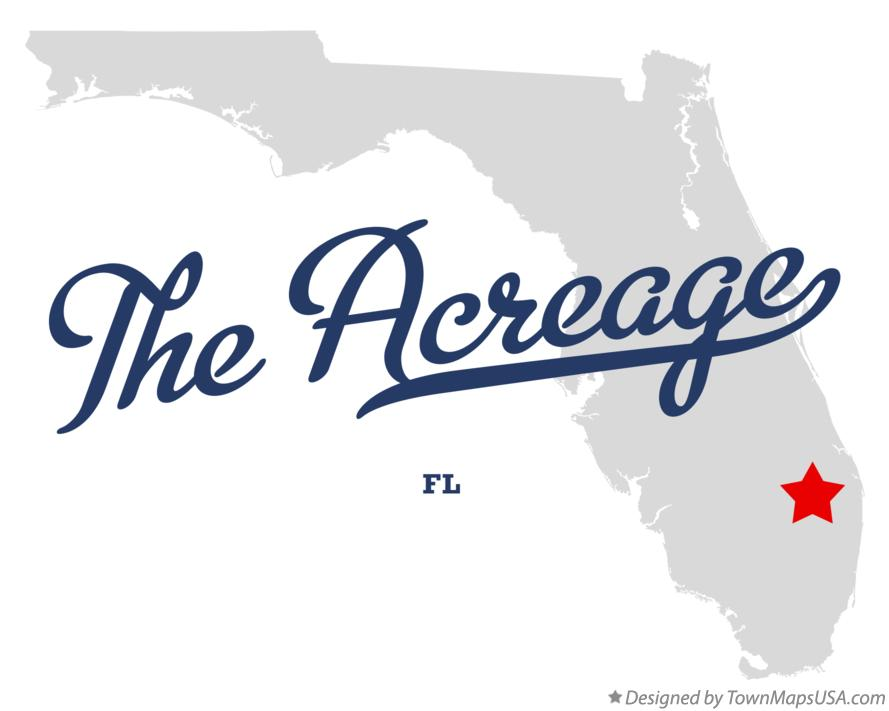 Map of The Acreage Florida FL