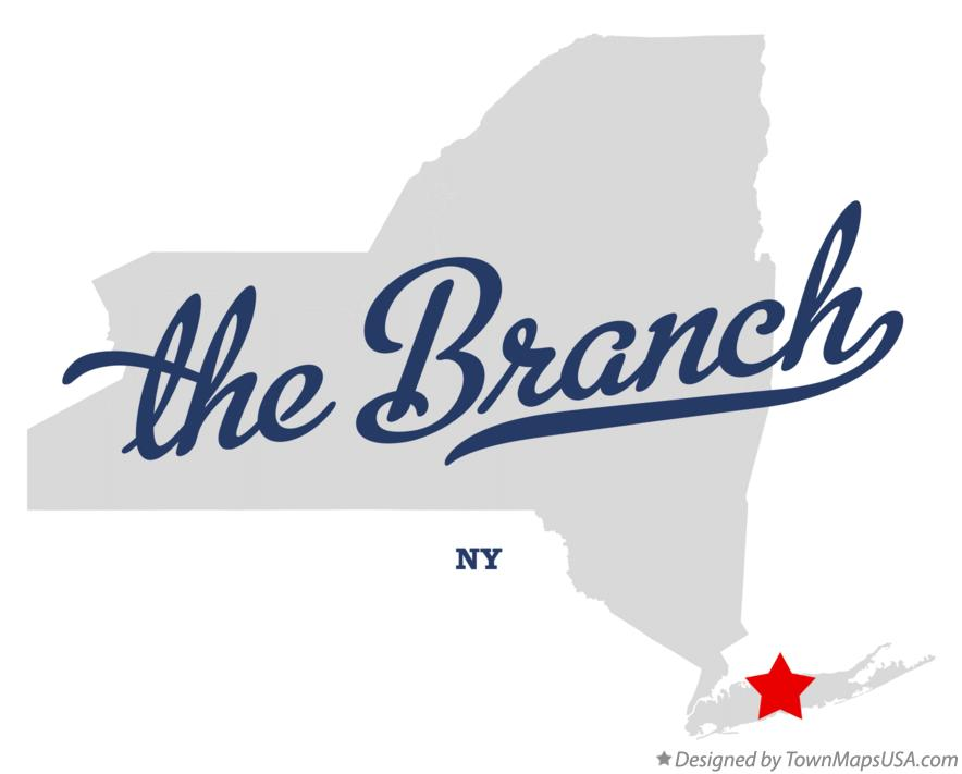 Map of the Branch New York NY