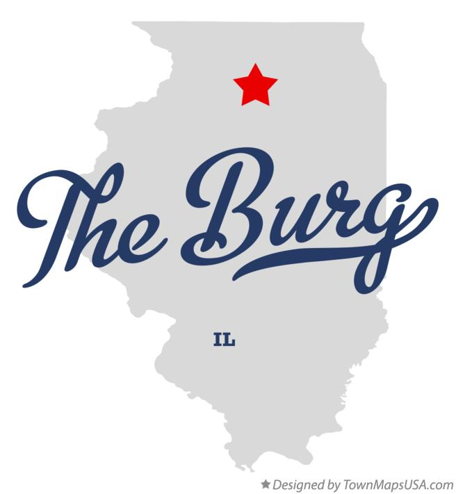 Map of The Burg Illinois IL