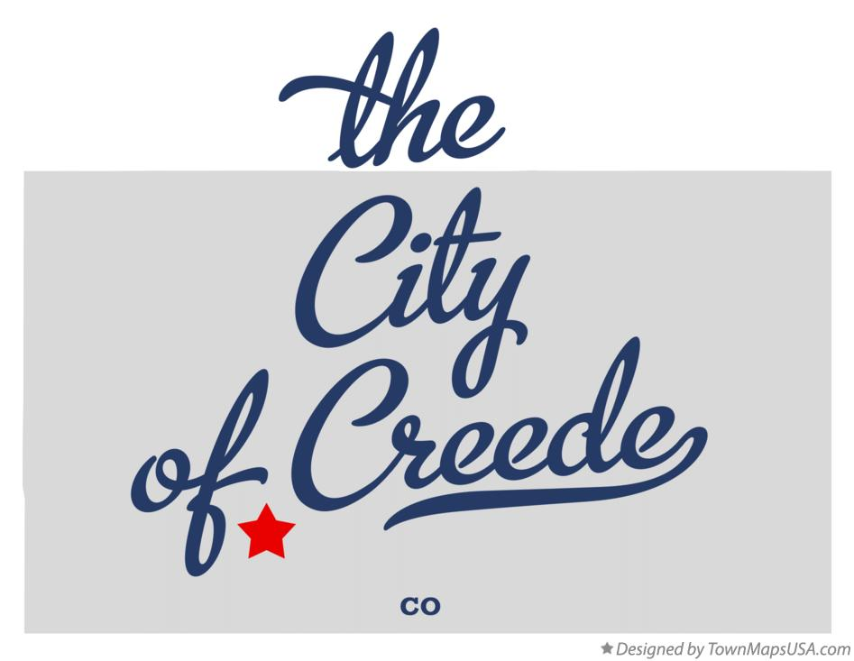 Map of the City of Creede Colorado CO