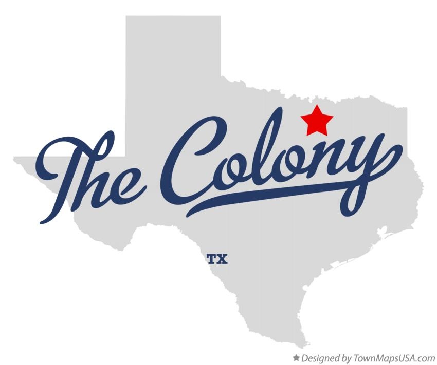 Map of The Colony Texas TX