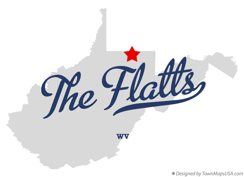 Map of The Flatts West Virginia WV