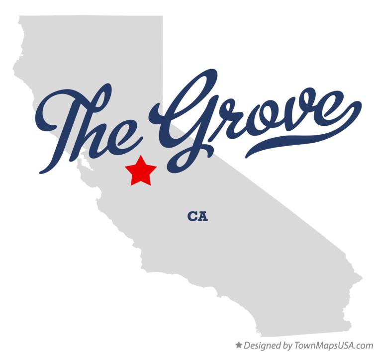 Map of The Grove California CA