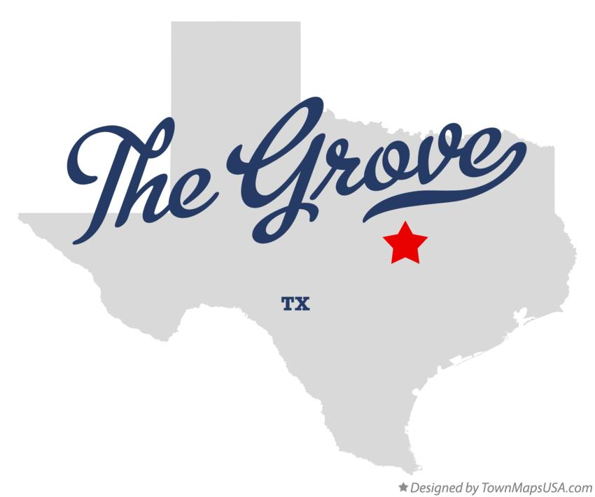 Map of The Grove Texas TX