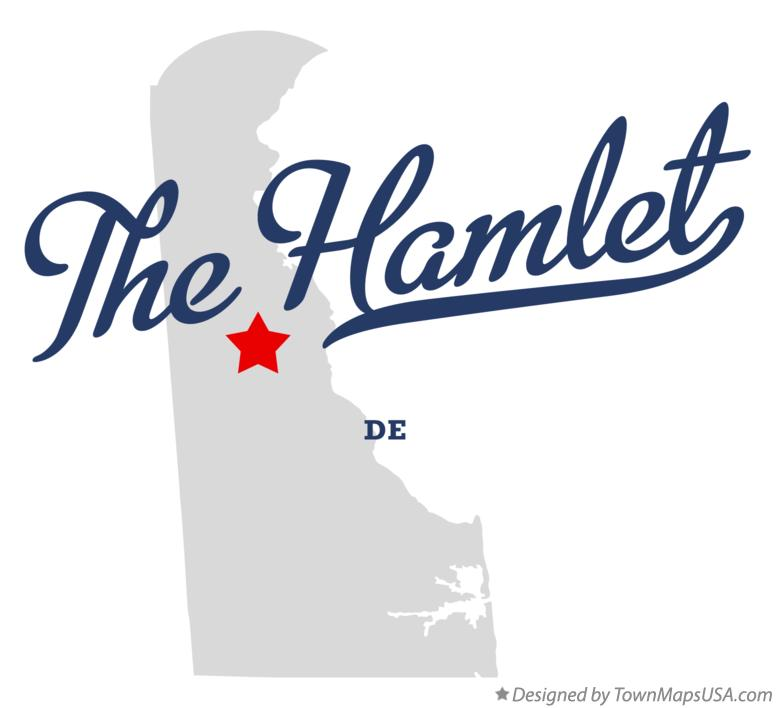 Map of The Hamlet Delaware DE