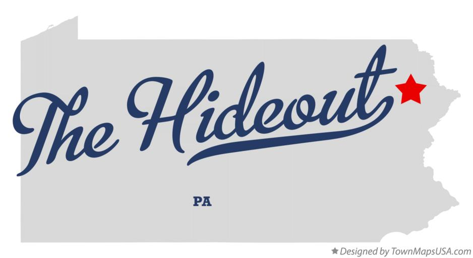 Map of The Hideout Pennsylvania PA