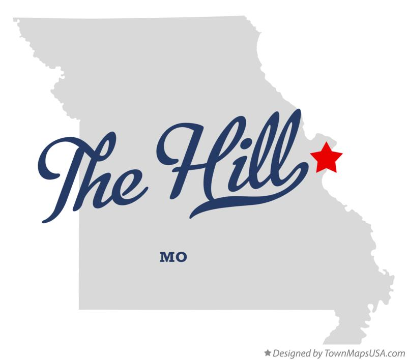 Map of The Hill Missouri MO