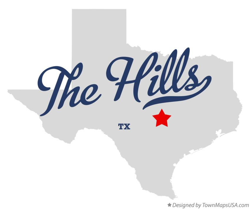 Map of The Hills Texas TX