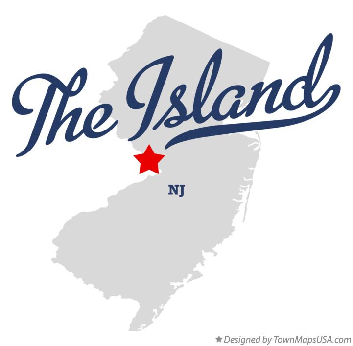Map of The Island New Jersey NJ