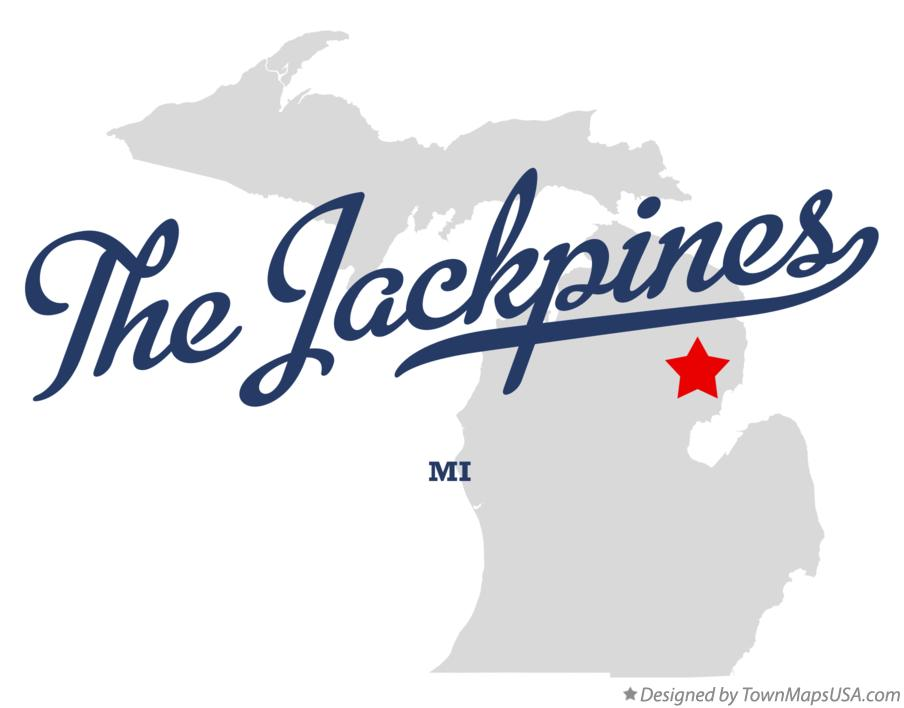 Map of The Jackpines Michigan MI