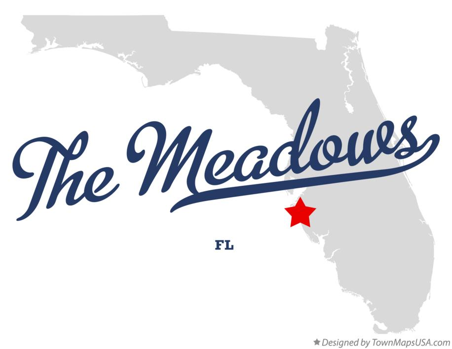 Map of The Meadows Florida FL