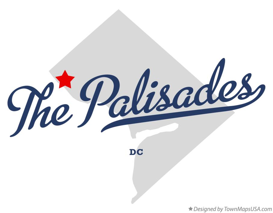 Map of The Palisades District Of Columbia DC