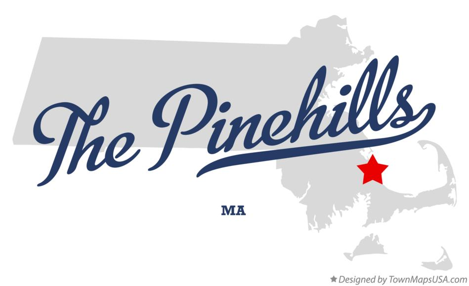 Map of The Pinehills Massachusetts MA