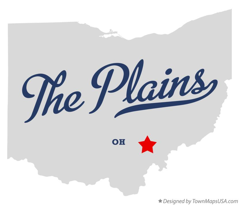 Map of The Plains Ohio OH