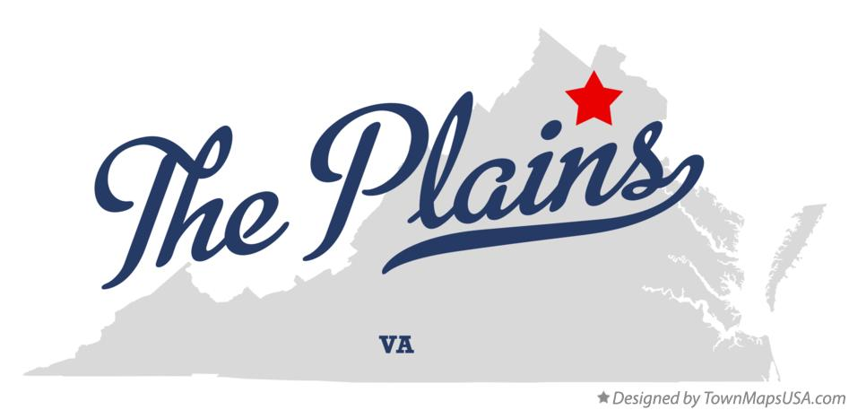Map of The Plains Virginia VA