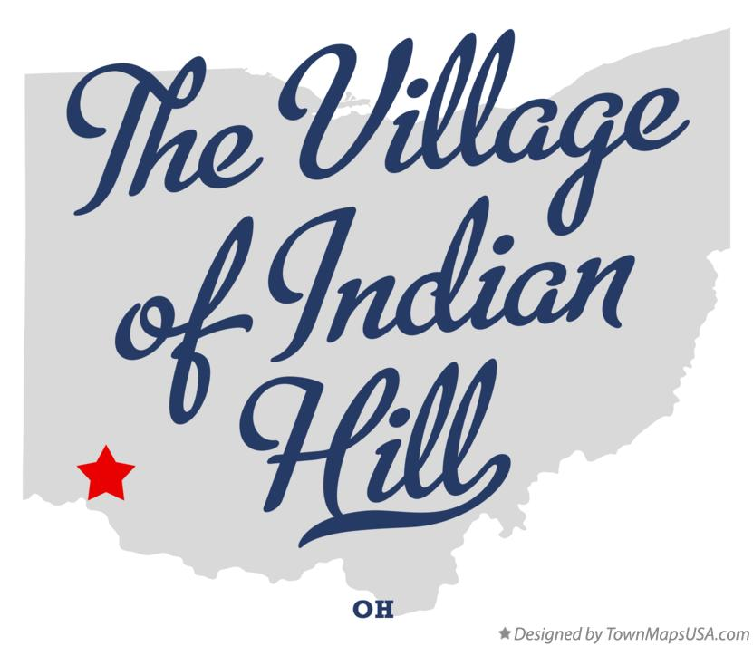 Map of The Village of Indian Hill Ohio OH