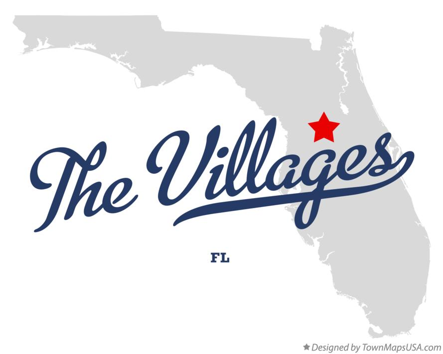 Map Of The Villages Fl Florida