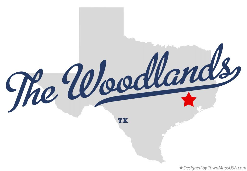 Map of The Woodlands Texas TX