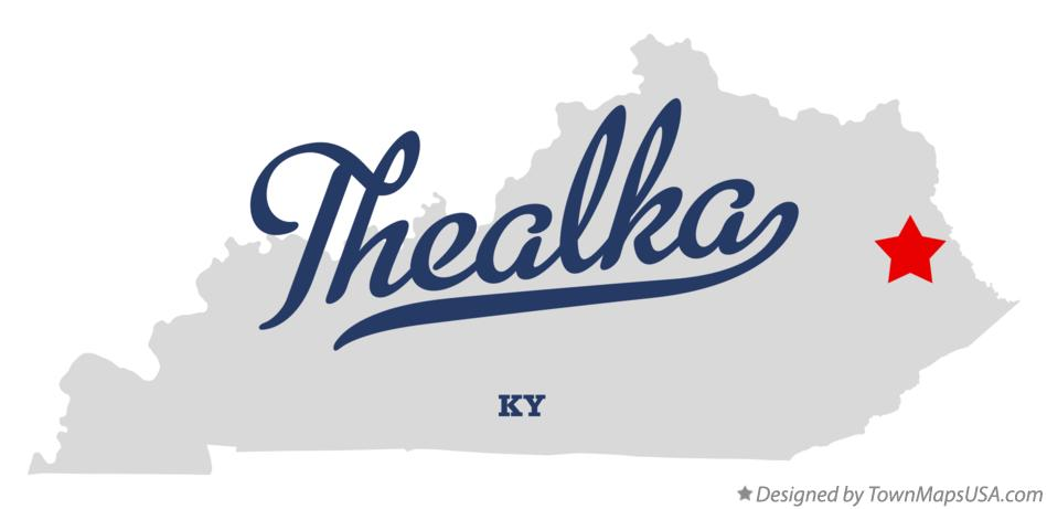 Map of Thealka Kentucky KY