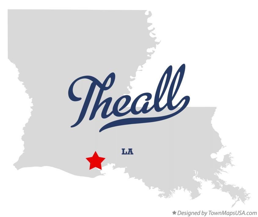 Map of Theall Louisiana LA