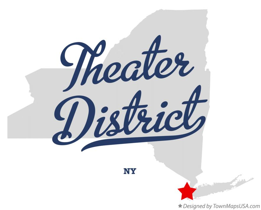 Map of Theater District New York NY