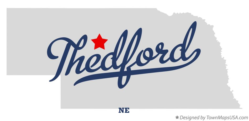 Map of Thedford Nebraska NE