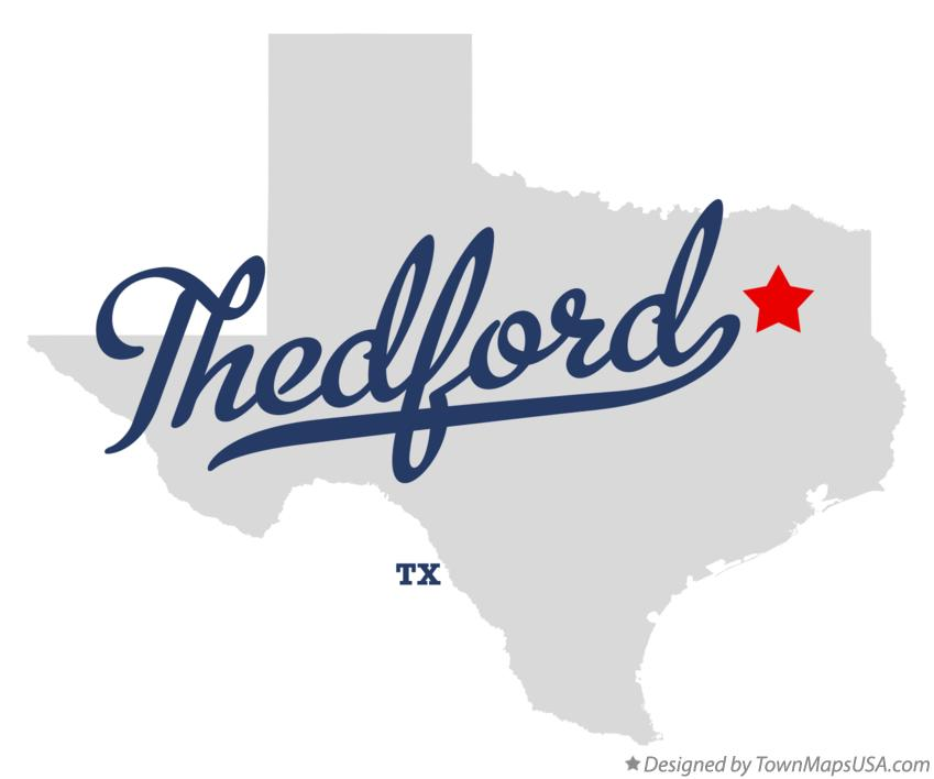 Map of Thedford Texas TX