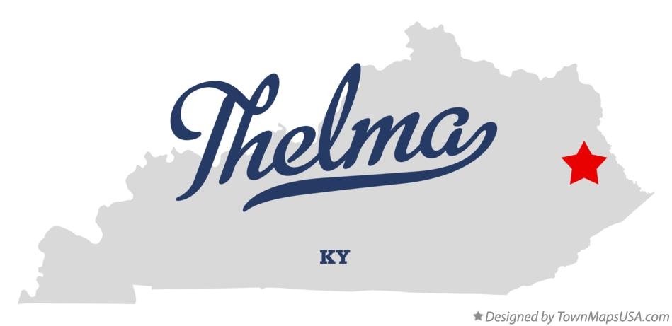 Map of Thelma Kentucky KY
