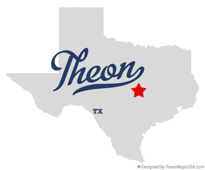 Map of Theon Texas TX