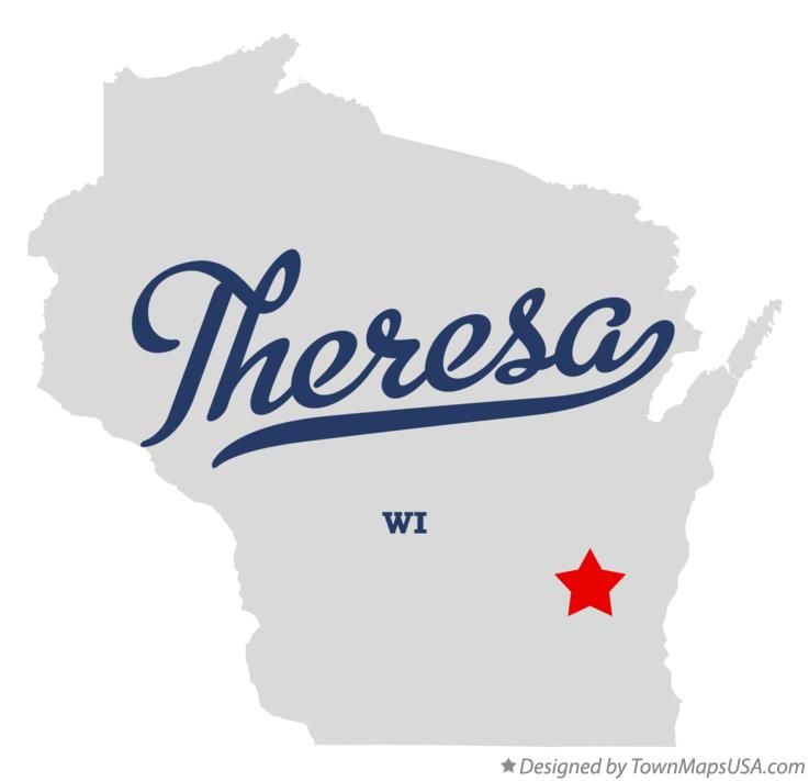 Map of Theresa Wisconsin WI