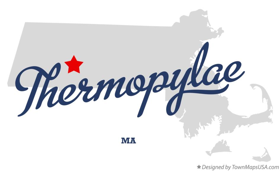 Map of Thermopylae Massachusetts MA