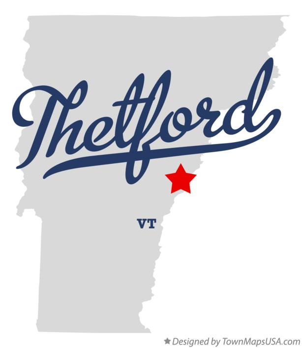 Map of Thetford Vermont VT